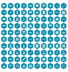 100 bullet icons sapphirine violet vector image
