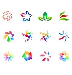 12 colorful symbols set 3 vector