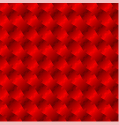 3d jigsaw tile seamless pattern red 002 vector image