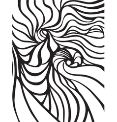 Abstract black and white wavy stripes vector image