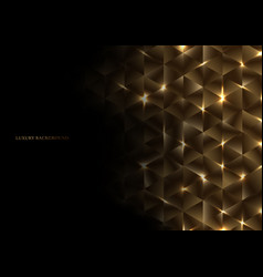 Abstract gold geometric triangle shape luxury vector