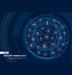 Abstract smart home technology background digital vector