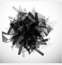 Abstract textured edgy monochrome graphic art vector