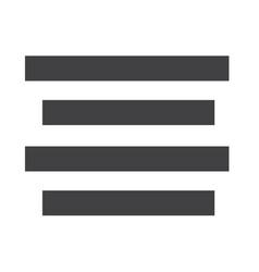 Align text centre icon sign vector