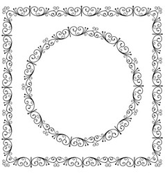 Art forging curles elements ornate circle vector