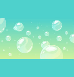 background with soap bubbles vector image