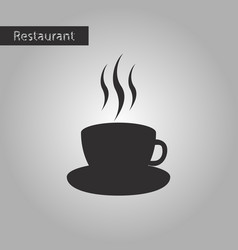 black and white style icon a cup of coffee vector image