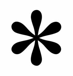 Black asterisk symbol vector