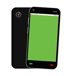 blank green screen smartphone vector image