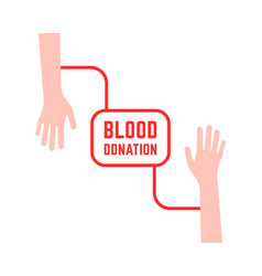Blood donation with simple hands vector