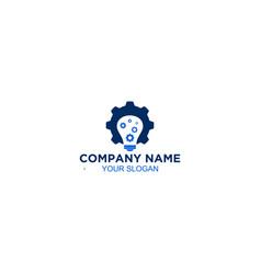 Bright smart factory gear lamp logo design vector