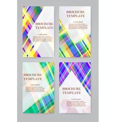 Brochure design template set vector image