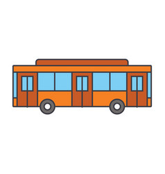 bus line icon concept bus flat sign vector image