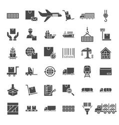Cargo solid web icons vector