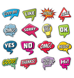 Chatting phrases funny comic words in speech vector