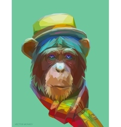 Chimpanzee polygonal eps 10 vector