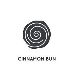 cinnamon bun roll glyph element or icon vector image