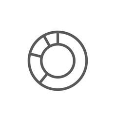 circle graph line icon vector image