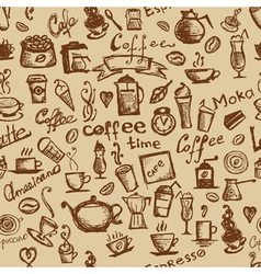 Coffee time seamless vector image