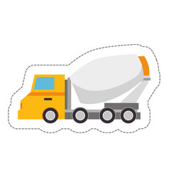 Construction trucks design vector