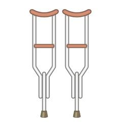 Crutches icon cartoon style vector