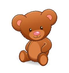 cute cuddly teddy bear vector image