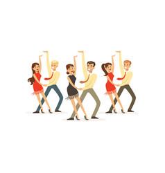 Dancers latin american dance vector