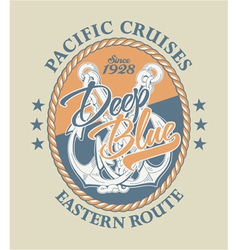 Deep Blue Pacific cruises vector image vector image