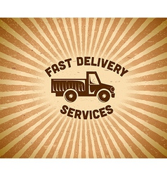 Delivery vintage label vector image