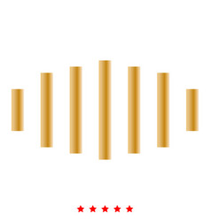digital signal icon flat style vector image
