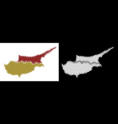 dotted halftone cyprus countries map vector image