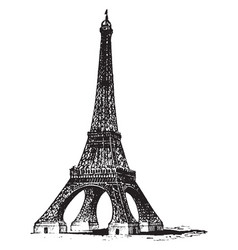 Eiffel tower structures in the world vintage vector