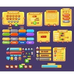 elements of the game interface vector image