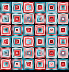 ethnic tribal square seamless pattern vector image