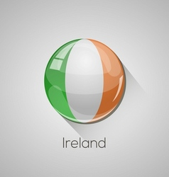 european flags set - ireland vector image