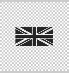 flag of great britain icon isolated uk flag sign vector image
