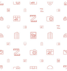 Frame icons pattern seamless white background vector