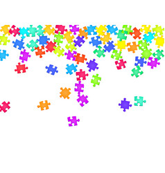 Game riddle jigsaw puzzle rainbow colors parts vector
