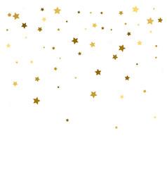 Gold stars confetti celebration falling golden vector
