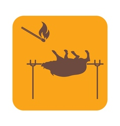 Grilled boar icon vector image