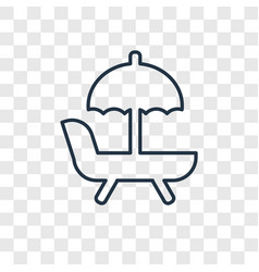 hammock concept linear icon isolated on vector image