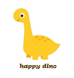 happy dino on white vector image
