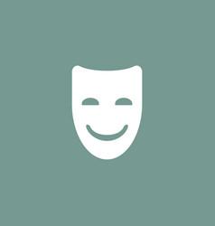 Happy mask icon simple vector