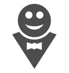 happy waiter flat icon vector image