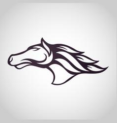 Horse logo icon design vector