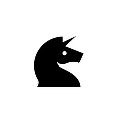 horse unicorn head logo icon vector image