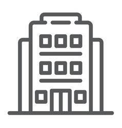 hotel line icon architecture and travel building vector image