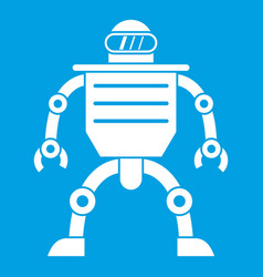Humanoid robot icon white vector