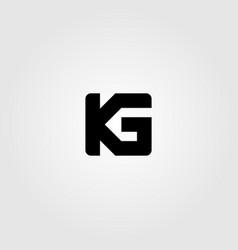 initial letter k g logo icon design vector image