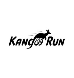 kangoo run logo icon designs with running vector image